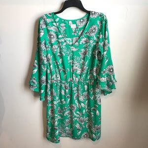 A New Day Floral Print Dress size Large